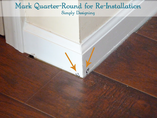 Mark Quarter-Round and Molding for Re-Installation