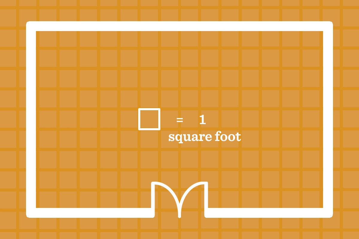 the first step to calculating your square footage
