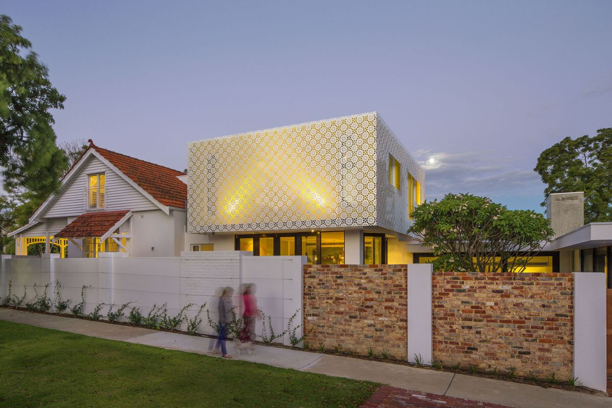 Kew House Perforated Roof Design