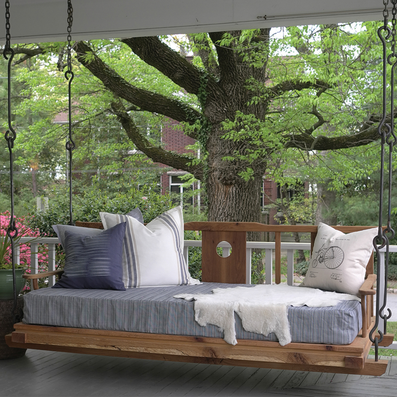 Layered hanging bed
