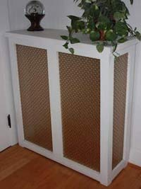 photo of a wooden radiator cover