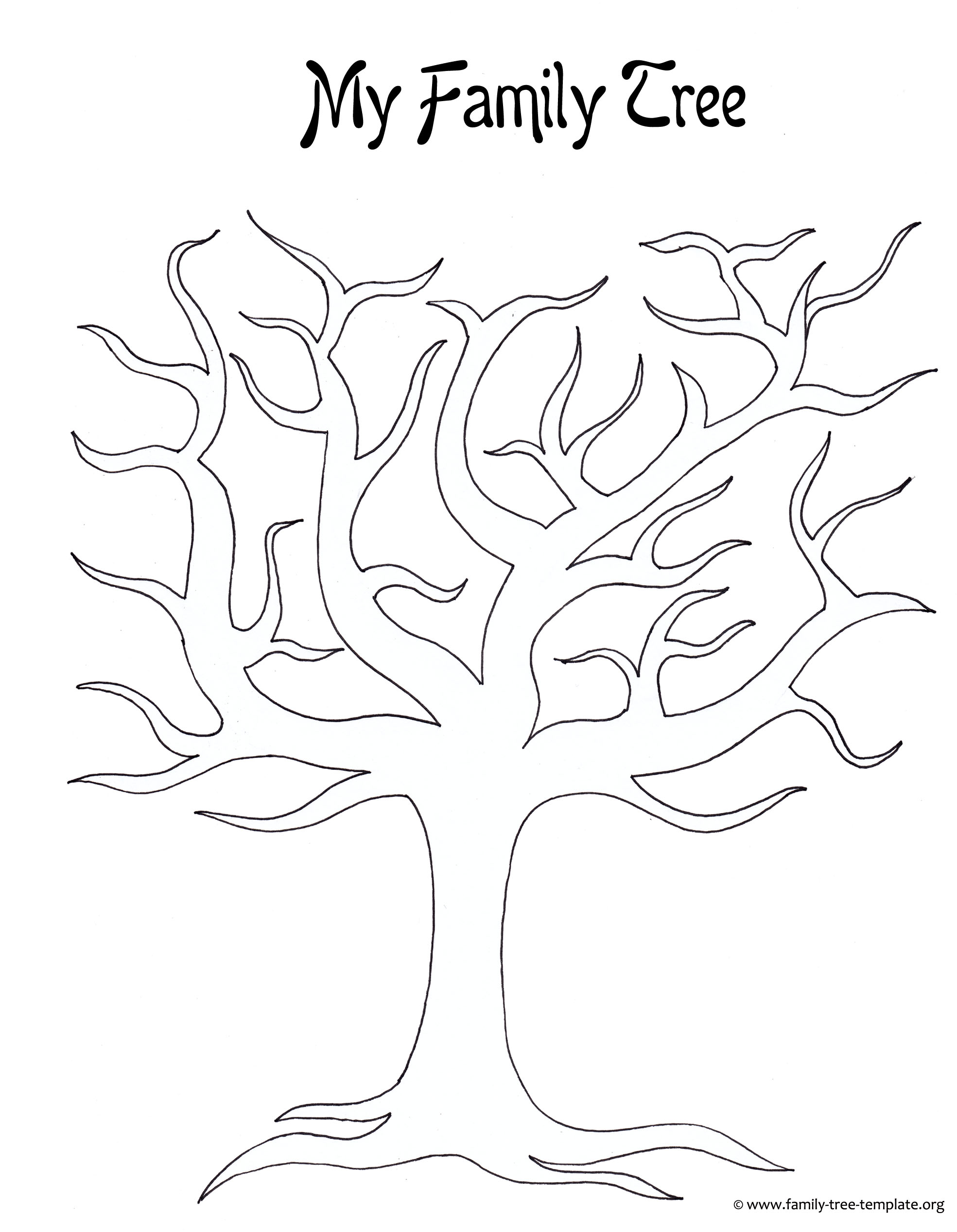 Family tree to print and for kids to color.