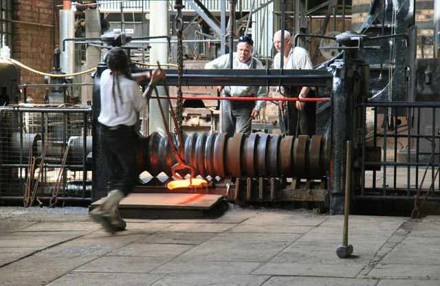Wrought iron production at Blist