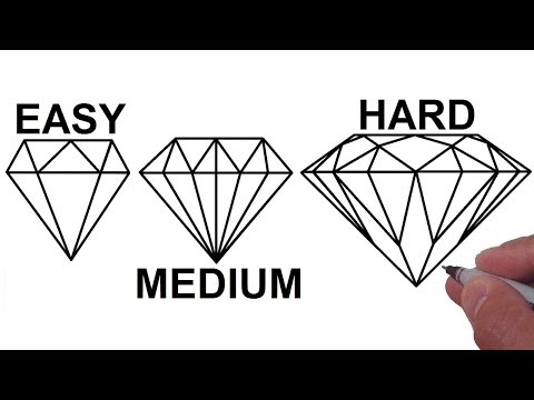How To Draw a DIAMOND in 3 Different Ways - Step by Step Tutorial (EASY, MEDIUM, HARD)
