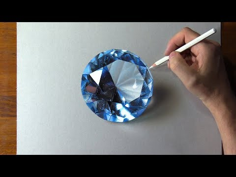 Drawing Blue Diamond 💎, so Realistic that... 🤑