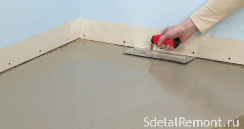cement self-leveling floor