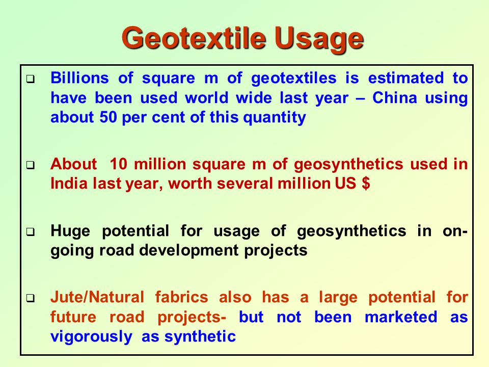 Geotextile Usage