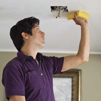 how to wash stretch ceilings