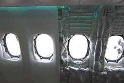 Cabin insulation of a Boeing 747-8 airliner