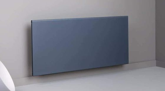 Wide Electric Radiator Panel In Grey Finish