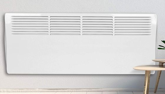 Flat Panel Electric Heater In White Finish