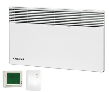 Heater With Timer In White Finish