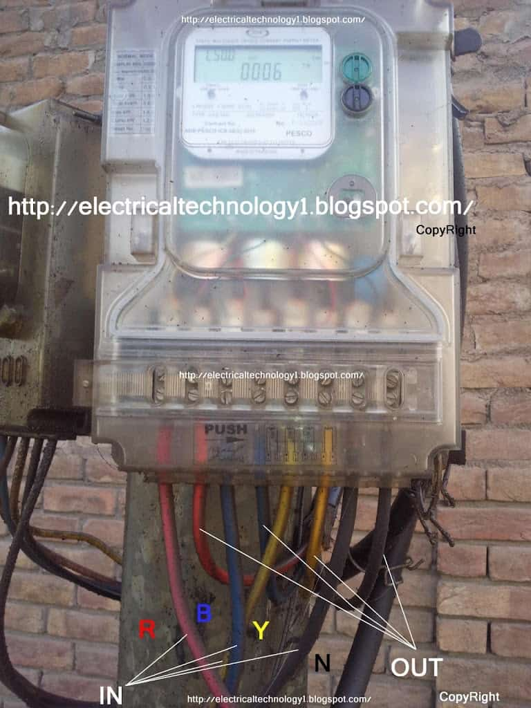 how to wire a 3-phase kwh meter?